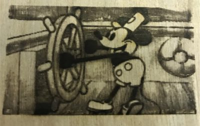 K40 Laser Cut Mickey Mouse Raster